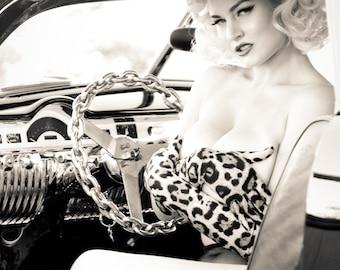 Gia Genevieve in Leopard Gloves 11x14 Print