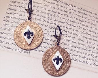 fleur de lis french filigree earrings