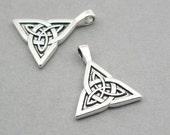 Celtic knot Charms Antique Silver 2pcs zinc alloy pendant beads 24X28mm CM0908S