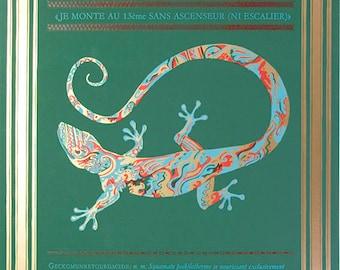 Geckomunretourdacide - Linocut and Letterpress