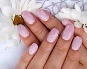 Bridal lace nail wraps for weddings. Nail decals. Cut nail polish strips nail art.