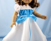American Grill Doll Clothes - Doll Clothing 18 Inch - American Girl Princess Dress, Petticoat, Shoes and Hairpin - Cinderella Dress