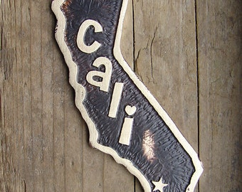 California State Pet ID Tag, Etched Brass Dog Tag - Your Home State