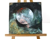 "Original 8"" x 8"" Acrylic Painting on Canvas Entitled - ""Planet"""