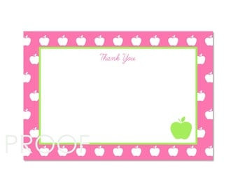 Thank You Cards- Apple of My Eye Party by Bloom