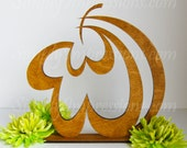 Allah wood cutout free standing