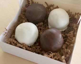 Chocolate Covered Peanut Butter Krispie Ball Gift Box
