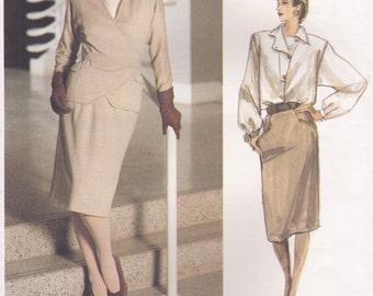 Jacket, Skirt & Blouse Pattern Vogue 1770 by Geoffrey Beene Size 8 Uncut