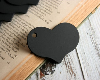 Heart Chalkboard Tags, Set of 10, 25, 50 or 100