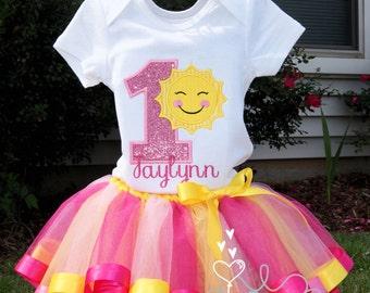 You are my Sunshine Tutu Set Includes Tutu Shirt and Bow Sunshine Tutu Set
