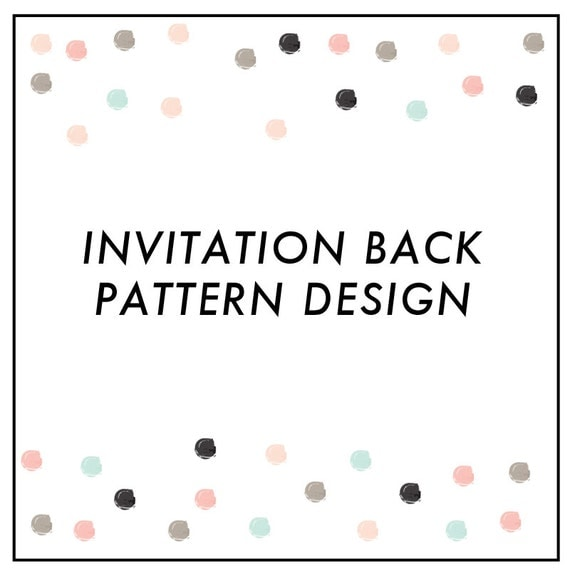 Invitation Background Pattern and Envelope Liner - Add On