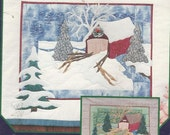"Wall Hanging Applique  Covered Bridge  Pine Meadows  22 x 27.5""  New"