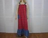 Vintage Long Dress/Nightgown 1960s Size Medium Society Lingerie Rare
