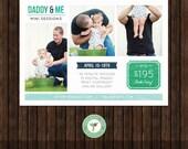 Daddy & Me Mini Session Marketing Template / Board - E49