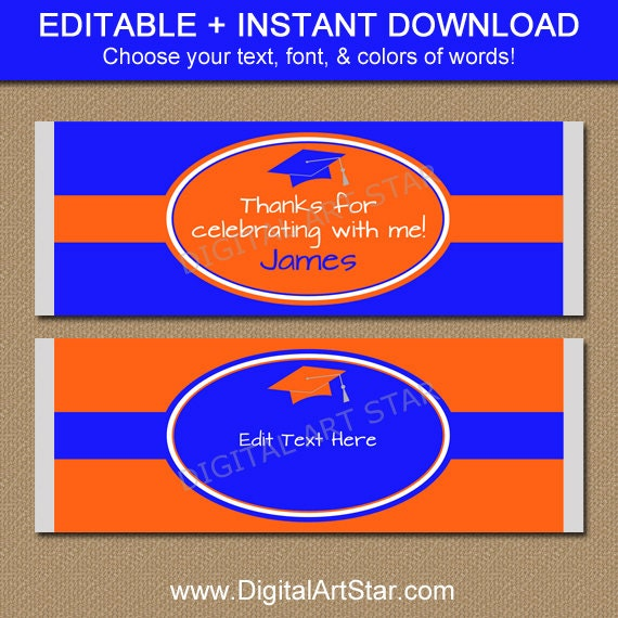 Graduation candy wrappers printable candy by digitalartstar for Free printable graduation candy bar wrappers templates