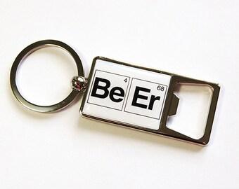 Keyring bottle opener, Beer, Bottle Opener, Keychain bottle opener, Key ring, key chain, Periodic Table, Fathers Day Gift (4805)