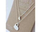 Mother Daughter Necklace Set - Valentine Gift - necklace gift- mom necklace - personalized necklace - mother daughter jewelry - jewelry gift