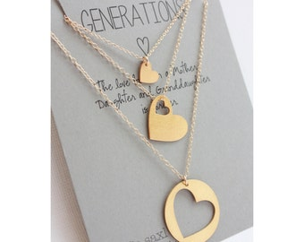 Generations necklace set. Gift for Grandmother. Personalized necklaces. Grandmother mother daughter. Mother's day gift. Mother gift. Grandma