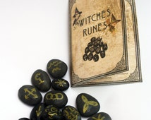 Witches Runes Wicca Occult Divination Stones Witchcraft Wicca Paganism