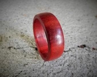 Custom Men's Wood Ring  Red Heart Wood