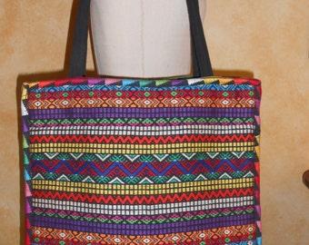 SALE Vintage Woven South American Ethnic Folk Boho Festival Textile Shoulder Bag