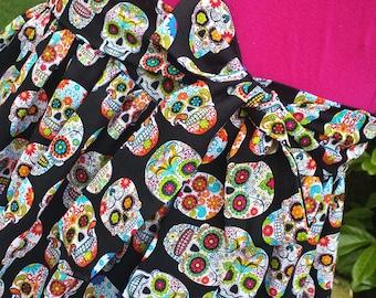Day of the Dead Sugar Skulls Skirt
