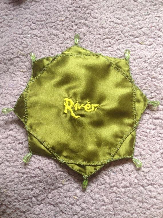 Handmade River Song prayer leaf (Doctor Who)