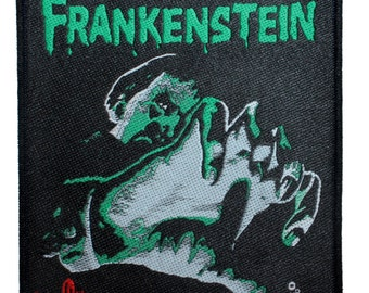 """Curse of """"Frankenstein"""" Hammer Horror Films Monster Movie Classic Sew On Applique Patch"""