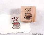40% OFF SALE Lovely coffee Rubber Stamp