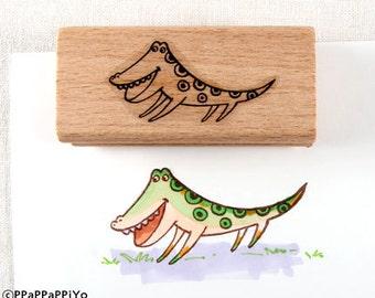crocodile Rubber Stamp