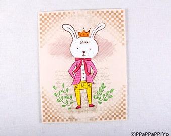 Smile more card / girl card
