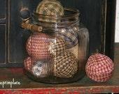Primitive Homespun Ragballs SIZE & COLOR CHOICES