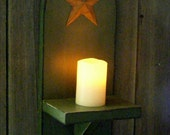 Made to Order-Primitive Wall Decor Candle Decor Candle Holder Shelf