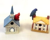 Collectible Set, Small Trinkets, Bird on Church, House, Home Décor, Lenox