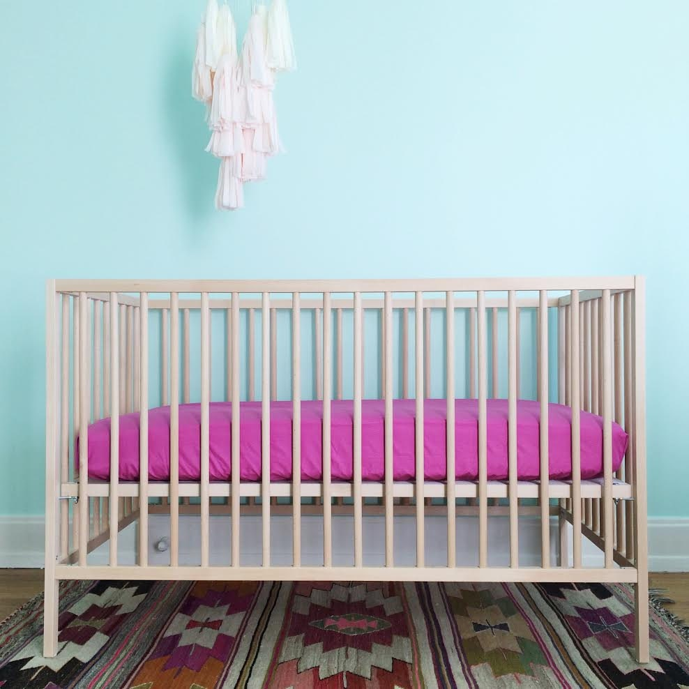 crib sheet orchid fitted crib sheet baby bedding crib. Black Bedroom Furniture Sets. Home Design Ideas