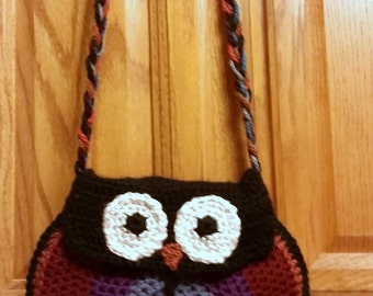 Lined Owl Purse