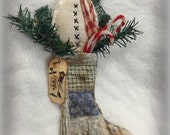 Snowman Filled Christmas Stocking Wall Hanger