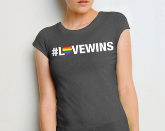 Love Wins #lovewins LGBT marriage equality T Shirt equal rights freedom tshirt for men and women