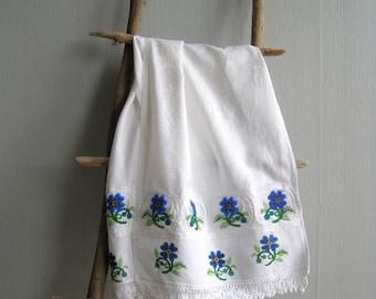 Easter Towel, Easter Basket Liner , Kitchen Towel, Hanging Towel, Cottage Cabin Home Decor, Beads Embroidery Towel, Wedding Rushnik, Ryshnik