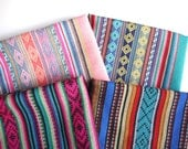 Peruvian Fabric, Andean Fabric, Woven Tribal Fabric Bundle, 4 Large Pieces
