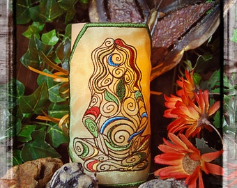 Beautiful Mother Nature Embroidered Candle Wrap For LED Flameless Pillar Candles.