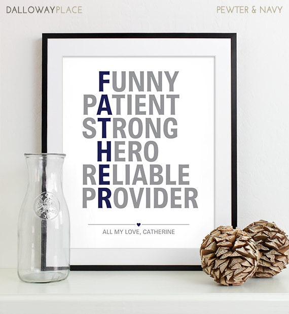 Personalized Dad Gifts for Fathers Day Present Parents Gift