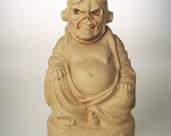 "Iron Maiden - Eddie ""Aces High"" Buddha (Antiqued Sand)"