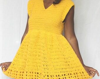 The Sun Bell Crochet Dress Pattern. Instant Download!