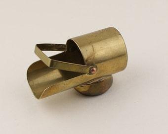 Miniature Handmade Brass Trench Art Coal Scuttle Ornament