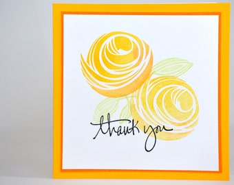 Orange and Yellow Marigold Thank You Card