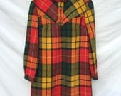 1960s Scottish Tartan Wool Dress