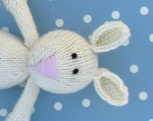 """Baby Gift- New Baby Gift- Knit Bunny Toy-  Baby Toddler Toy- Stuffed Bunny- Photo Prop- Kids Toy- Stuff Animal- Child Toy- 12"""" Tall"""