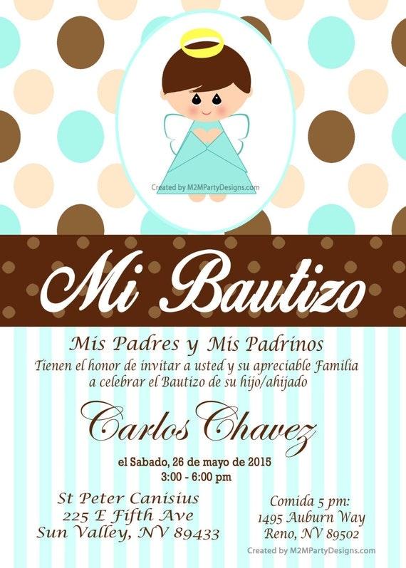 Tarjetas de Bautizo y Comunion Invitaciones de Bautismo