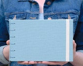 Seafoam Blue Canvas Panoramic Watercolor Sketchbook